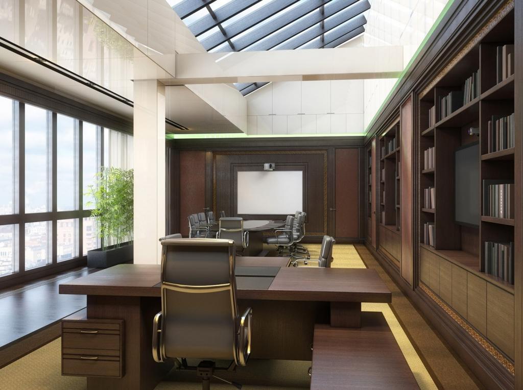 Современные интерьеры кабинетов руководителей